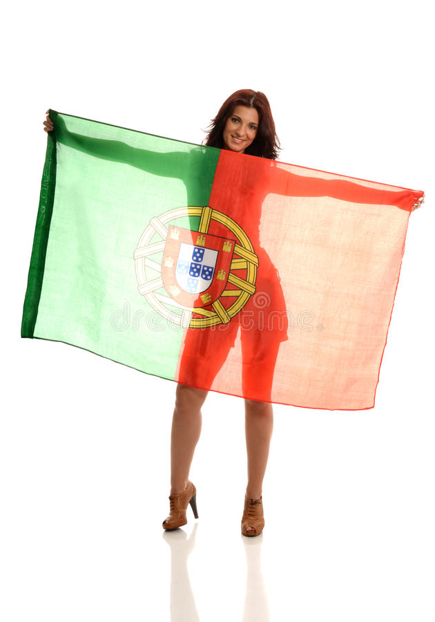 Download Beautiful Portuguese Fan stock image. Image of supporter - 26344179