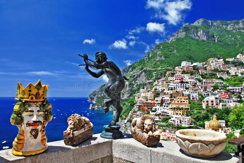 Download Beautiful Positano stock photo. Image of panoramic, positano - 26968642