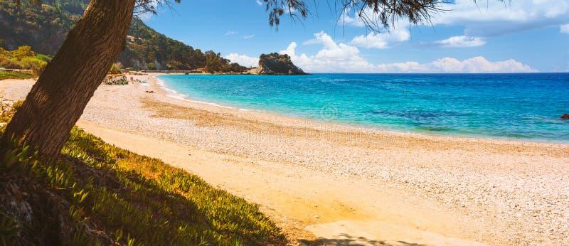 Potami beach on Samos Island in Greece royalty free stock photo