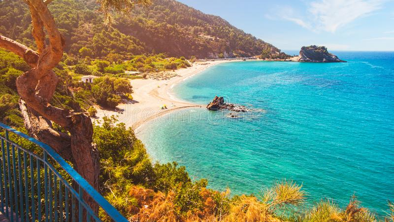 Potami beach on Samos Island in Greece stock image