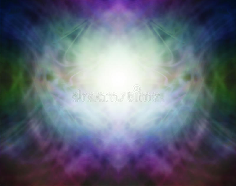 Beautiful Pranic Spiritual Energy Formation Background royalty free illustration