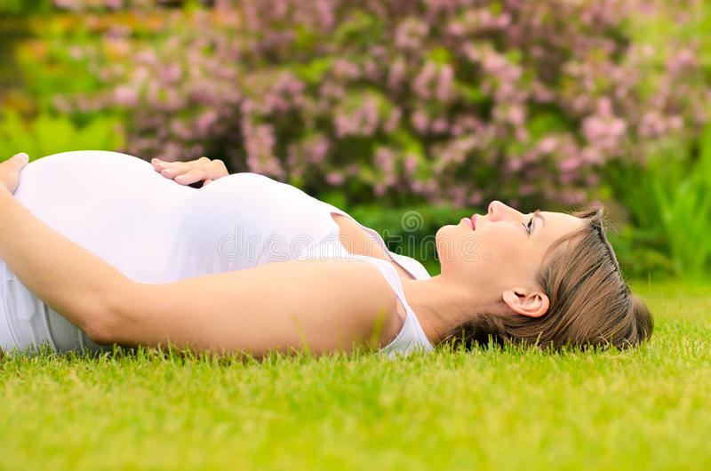 Download Beautiful pregnant woman stock photo. Image of belly - 25114930
