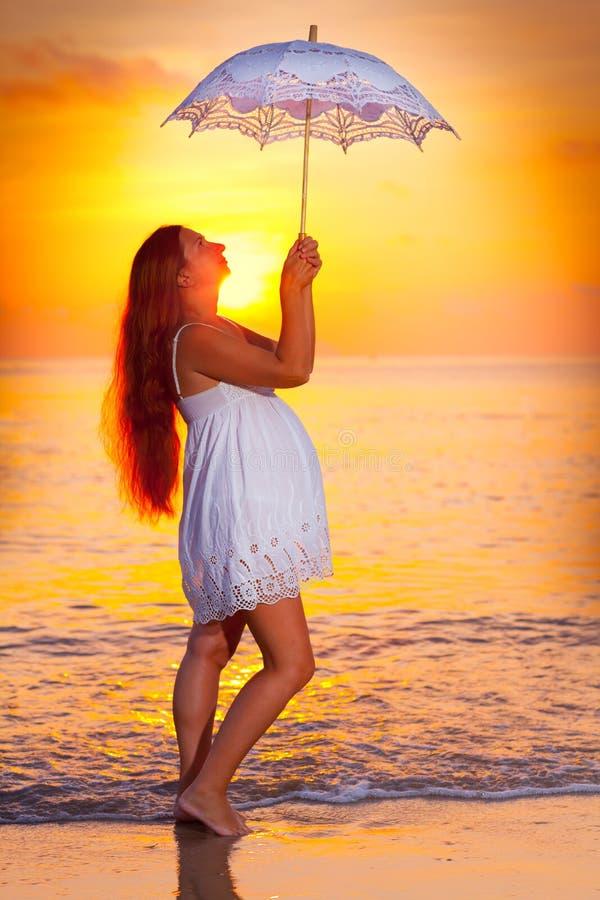 Download Pregnant woman stock image. Image of maternity, ocean - 30053735