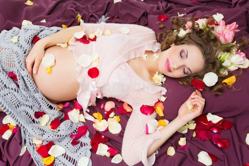 Beautiful pregnant woman stock photography