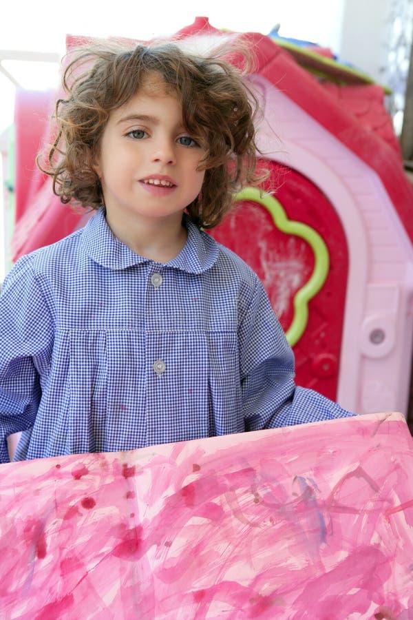 Download Beautiful Preschooler Student Little Artist Girl Stock Image - Image: 10016061