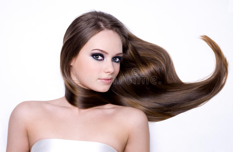Download Beautiful Pretty Girl With Long Brown Hair Stock Image - Image: 22244879