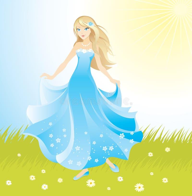 Beautiful princess vector illustration