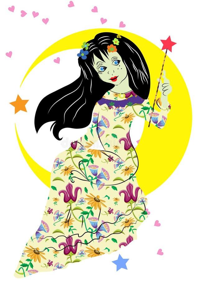 Download Beautiful princess stock vector. Image of dress, pink - 34118400