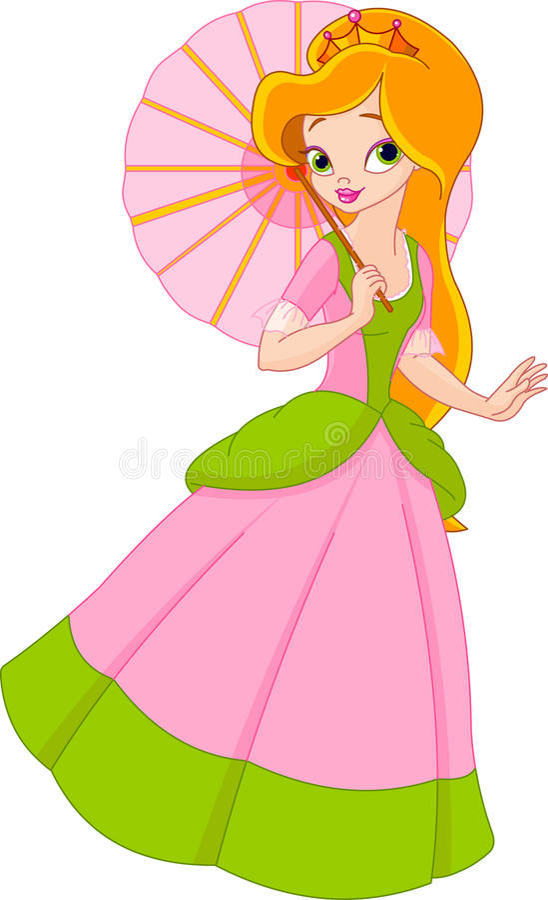 Beautiful princess at summer day