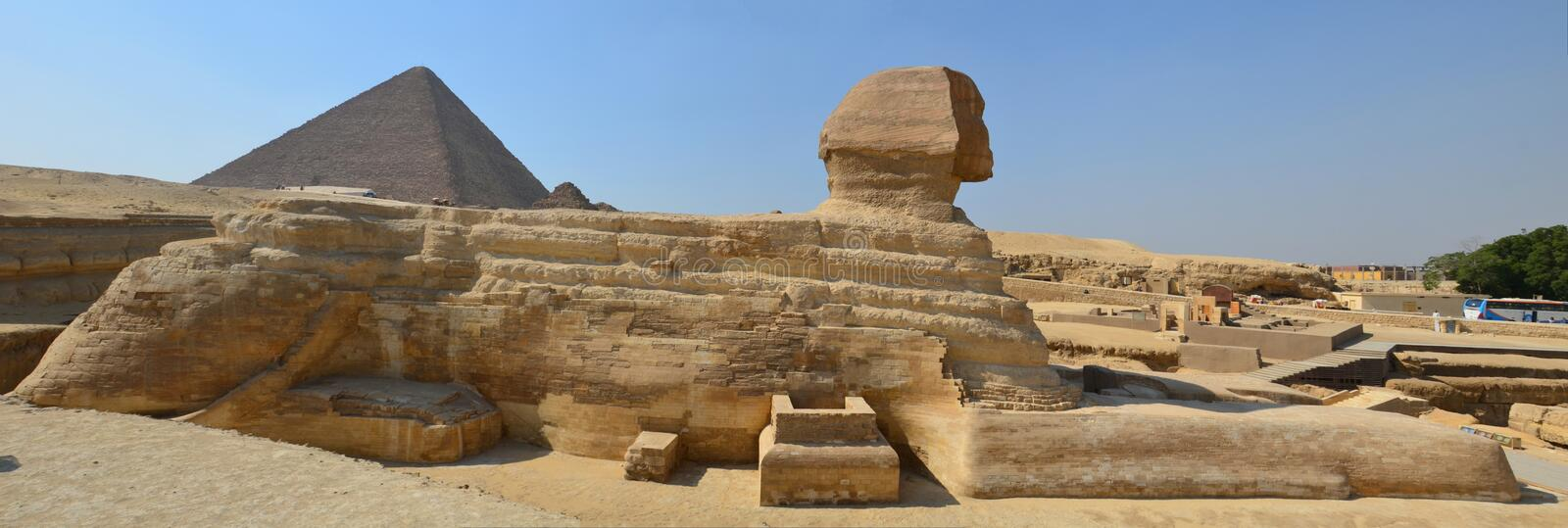 Beautiful profile of the Great Sphinx stock photo