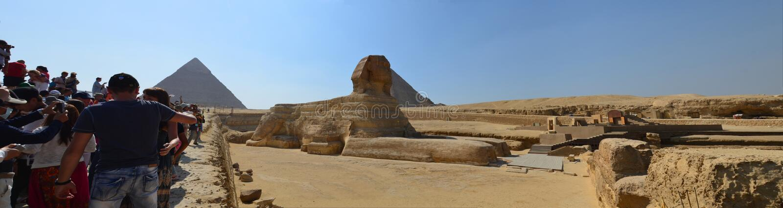 Beautiful profile of the Great Sphinx royalty free stock photo