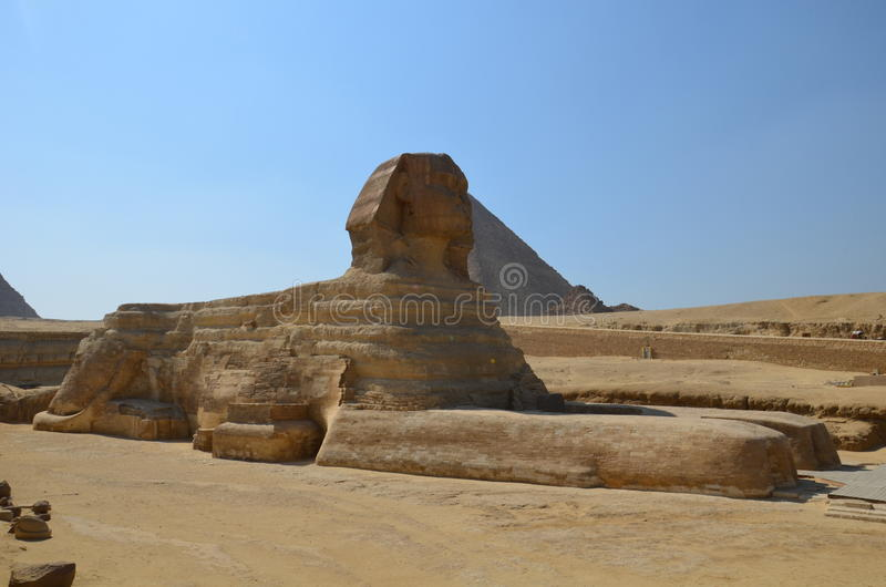 Beautiful profile of the Great Sphinx royalty free stock photography