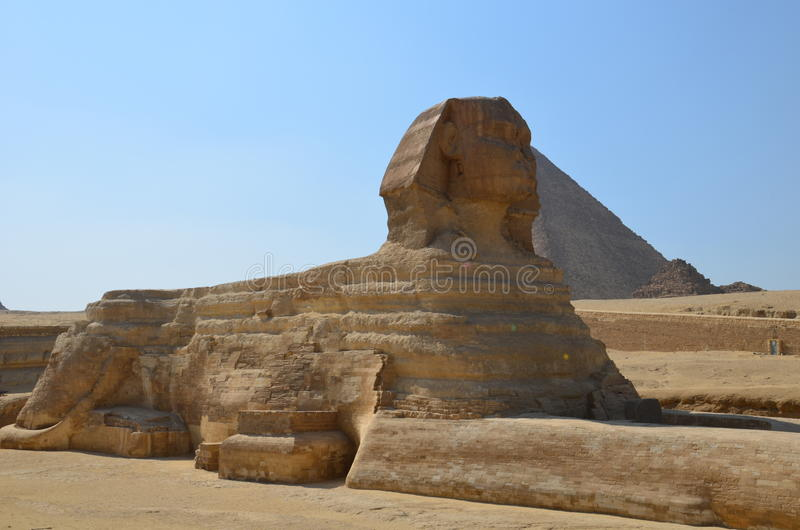 Beautiful profile of the Great Sphinx royalty free stock image