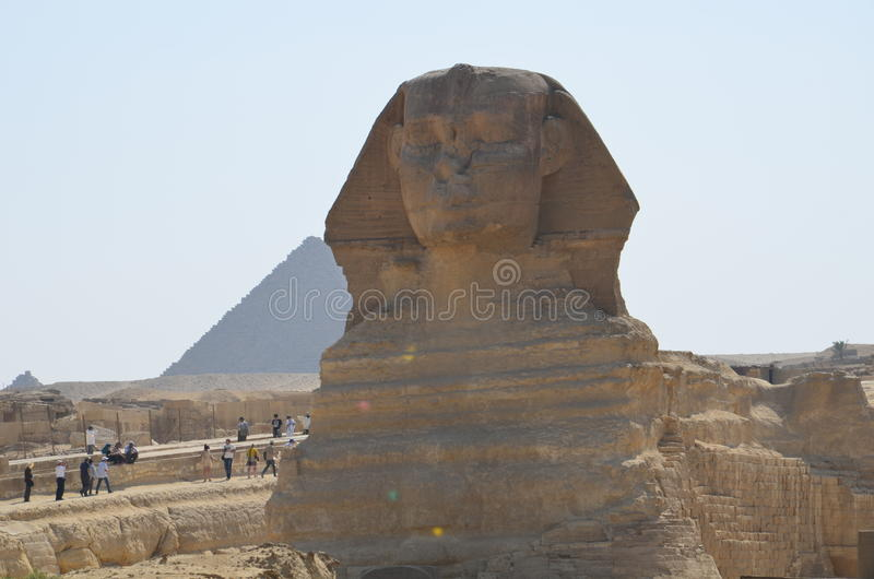 Beautiful profile of the Great Sphinx stock images