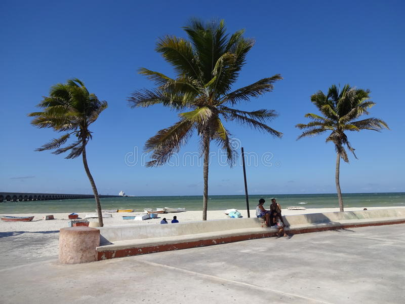 Beautiful Progreso Beach royalty free stock photo