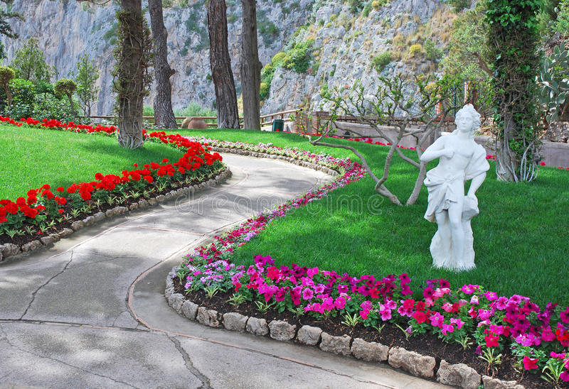 Beautiful public garden royalty free stock images