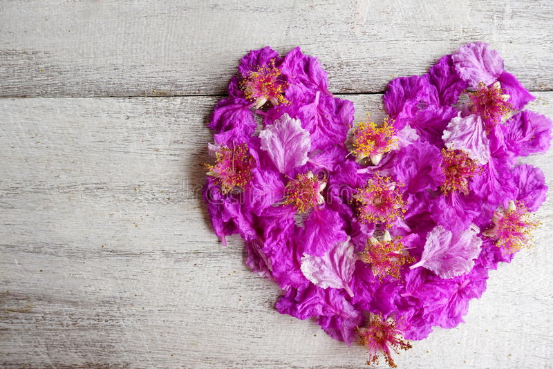 beautiful purple flowers heart shape for valentine day and wedding, Ideas