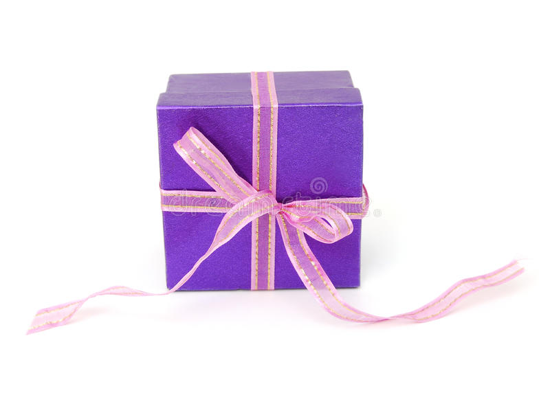 Beautiful Purple Gift Stock Image