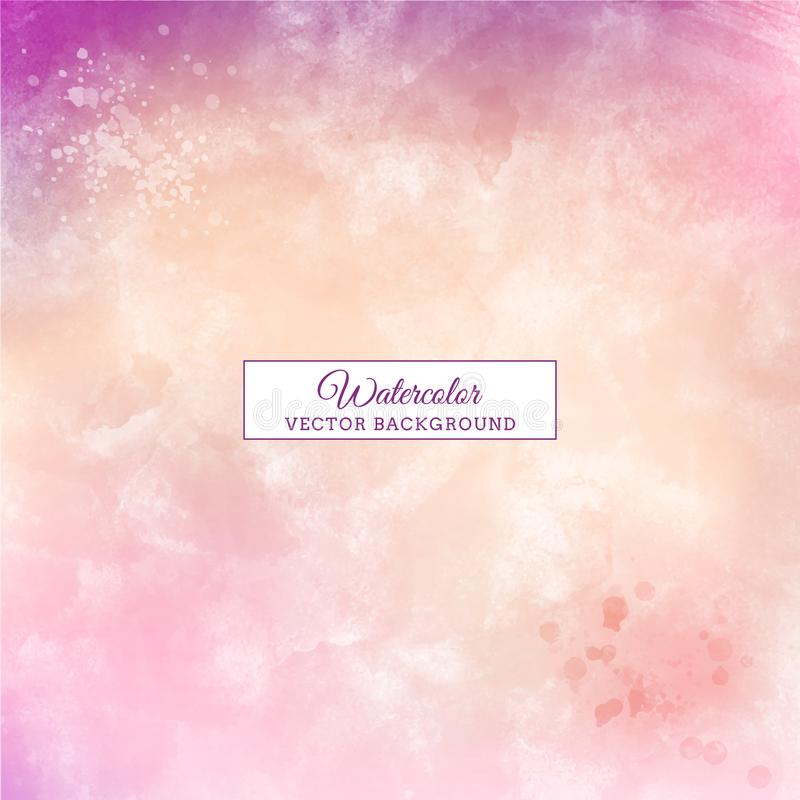 Beautiful purple handmade pastel color watercolor background stock images
