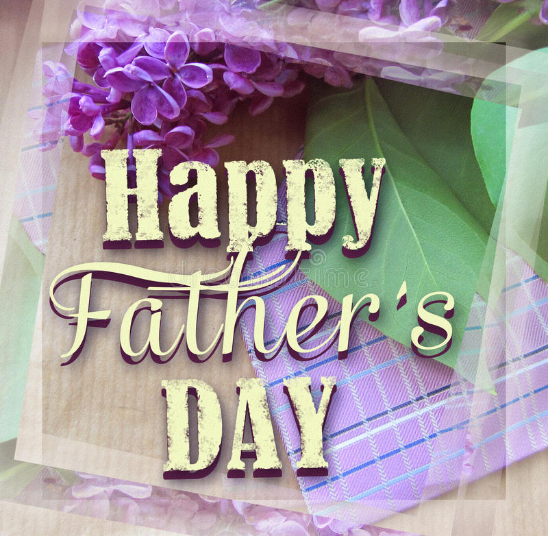 Beautiful purple lilac and tie for father's day. Greeting card. Abstract concept background for father's day celebration.  stock image