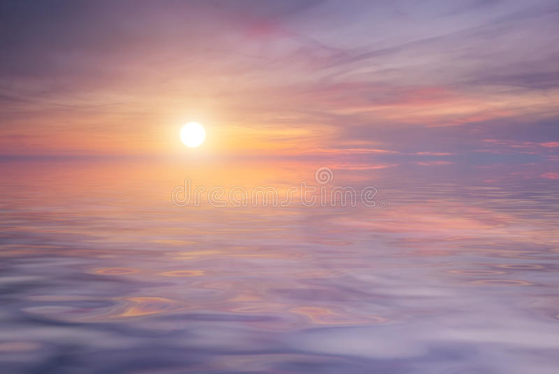 Download Beautiful Purple Sunset On The Sea Stock Image - Image: 23340997