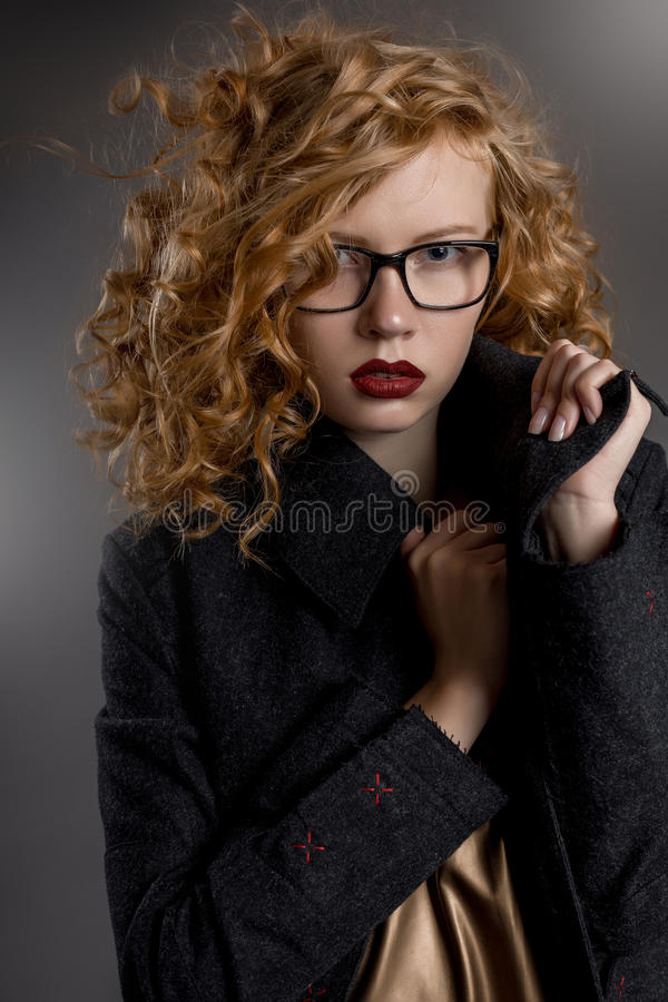 Glasses girls sexy pussy