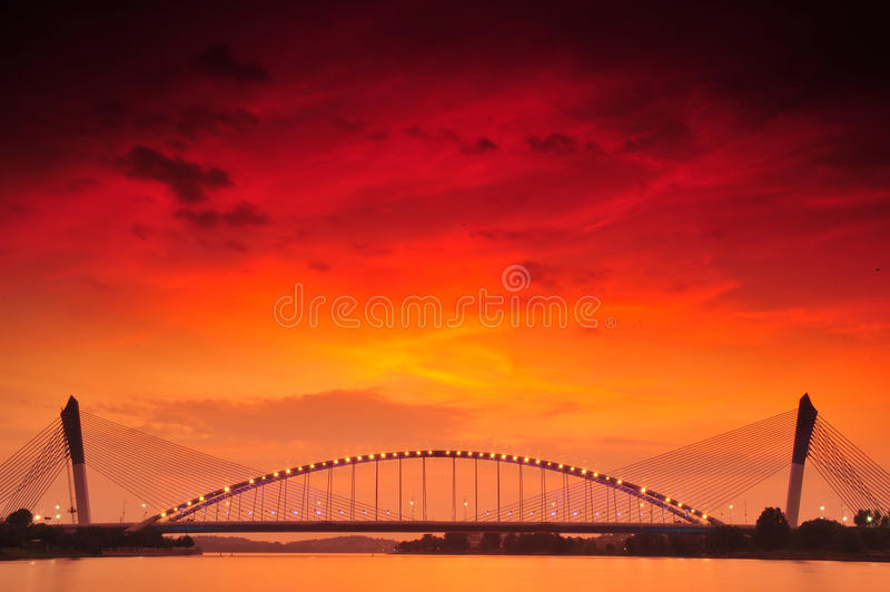 Beautiful Putrajaya. Putrajaya , Malaysia's federal administrative capital, is a modern planned city with construction having started in only the late 1990s and stock photo