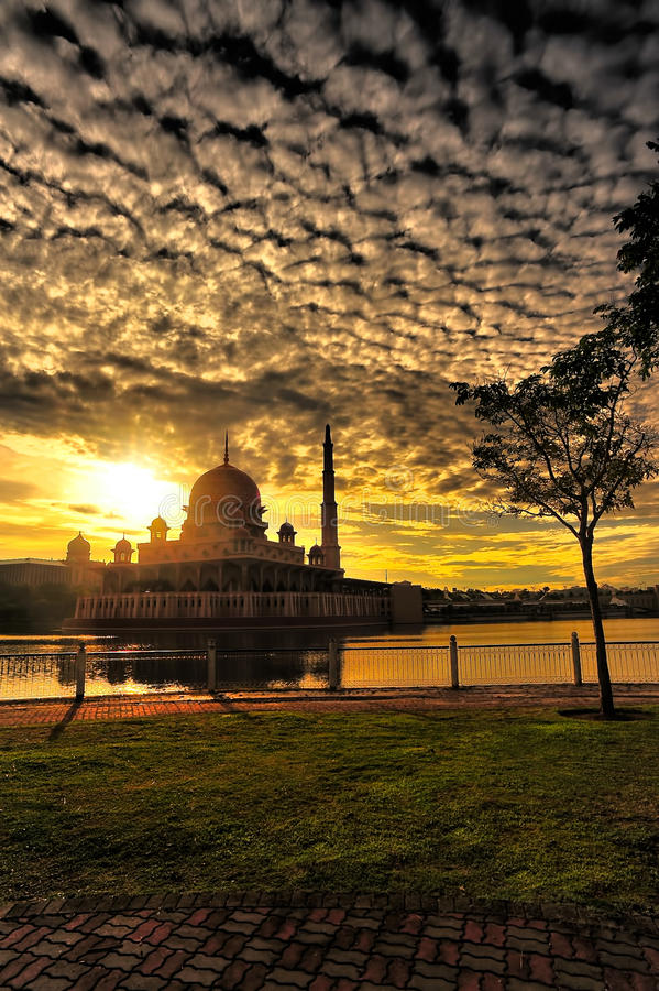 Beautiful Putrajaya. Putrajaya , Malaysia's federal administrative capital, is a modern planned city with construction having started in only the late 1990s and royalty free stock photos