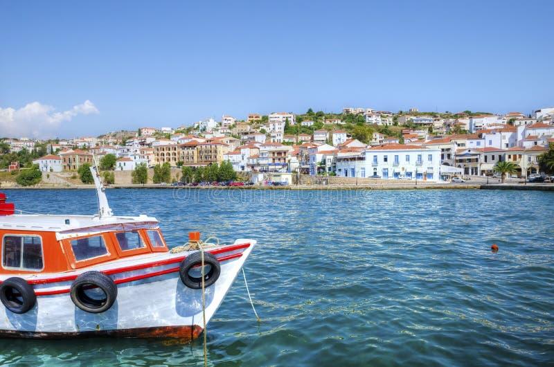 Beautiful Pylos, Greece stock image