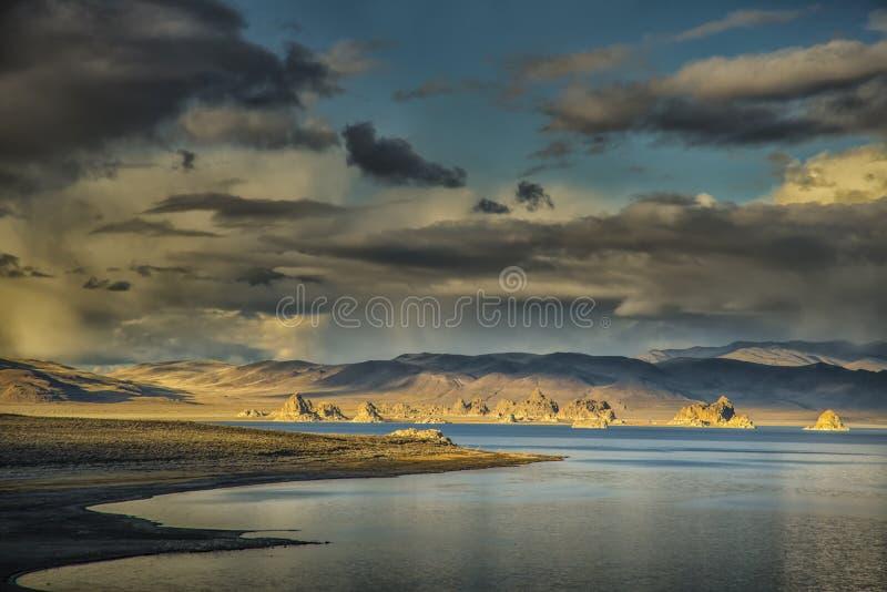 Beautiful Pyramid Lake stock images