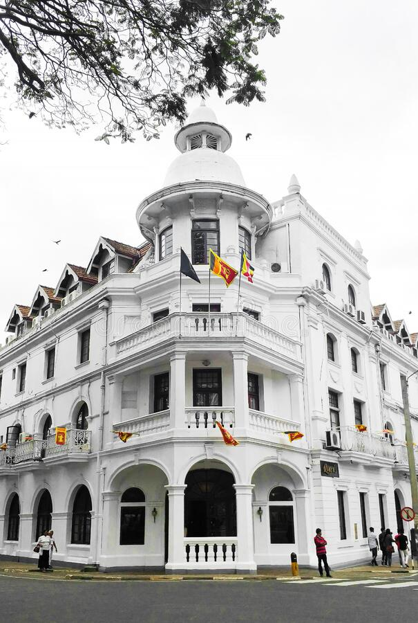 The beautiful Queenz Hotel on Colombo Sri Lanka.  stock images