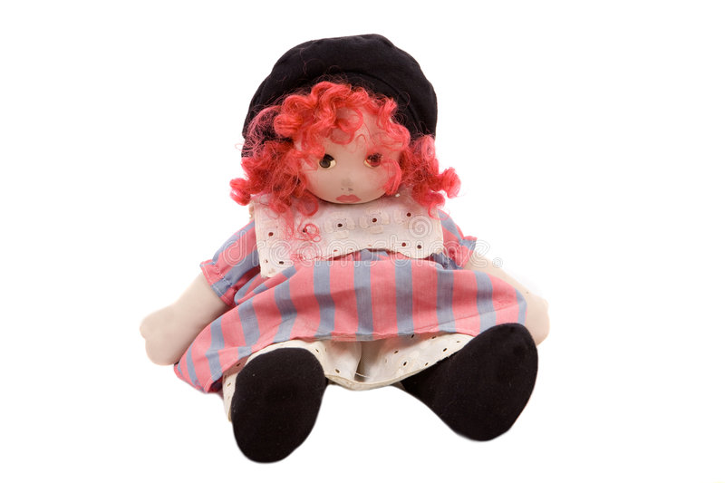 Download Beautiful rag doll stock image. Image of haired, sewing - 7819303
