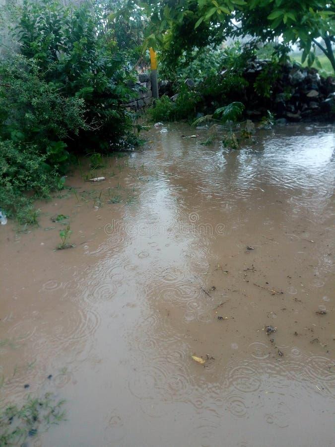 Beautiful rain water seems like River very beautiful. Because of rain water seems like River very beautiful stock image