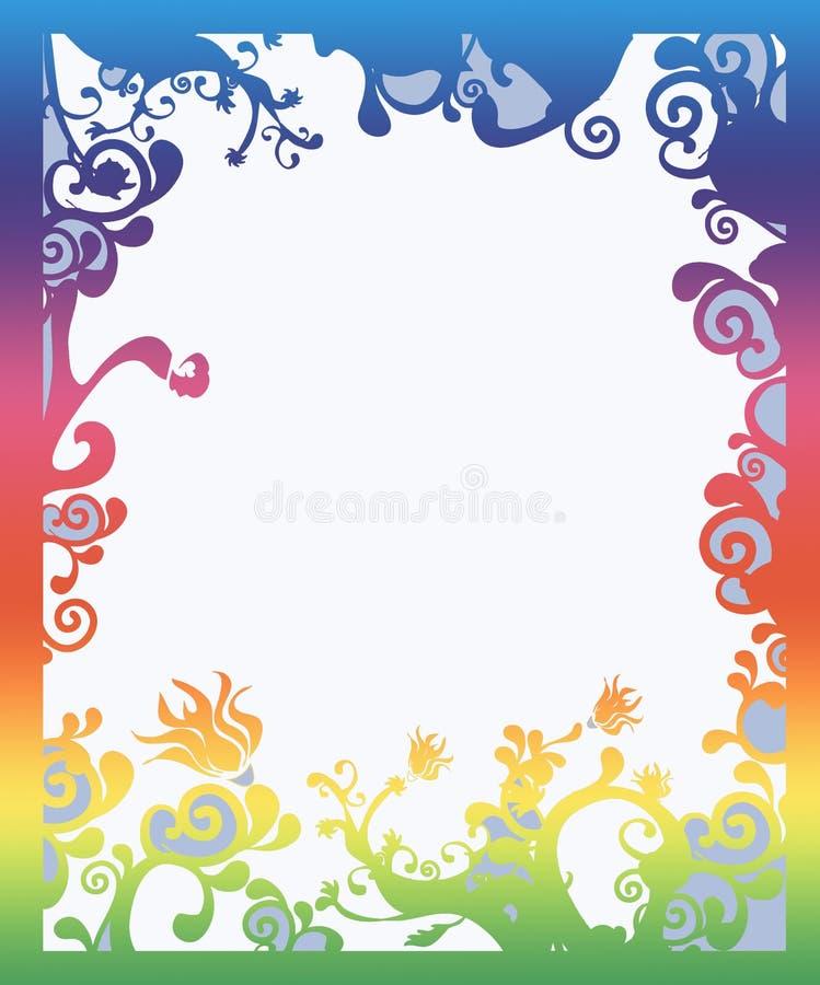 Beautiful rainbow colored border stock illustration
