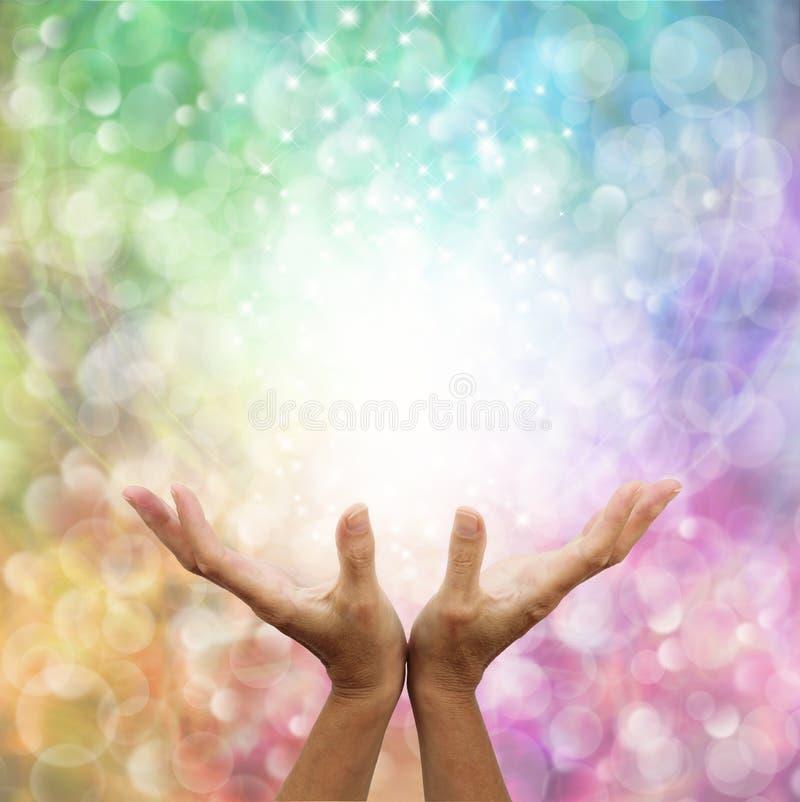 Beautiful Rainbow Healing Energy stock photography