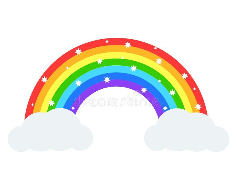 Beautiful rainbow illustration. Vector icon. royalty free illustration