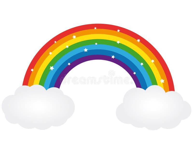 Beautiful rainbow. Vector illustration. Beautiful shiny rainbow icon. Vector illustration vector illustration