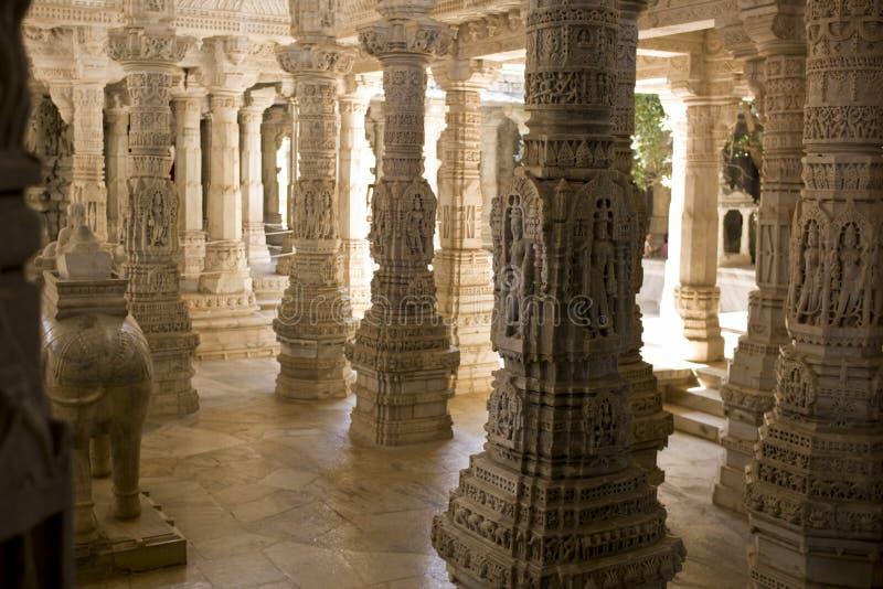 The beautiful Ranakpur Jain Temple royalty free stock photo