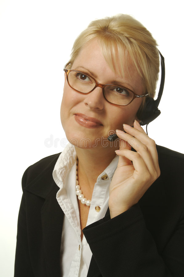 Beautiful Receptionist royalty free stock photography