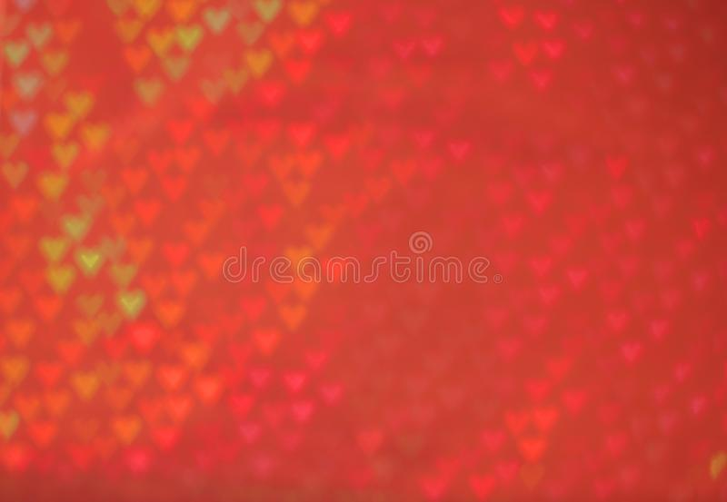 Beautiful red background with out of focus hearts. Perfect for Valentine`s day stock photography