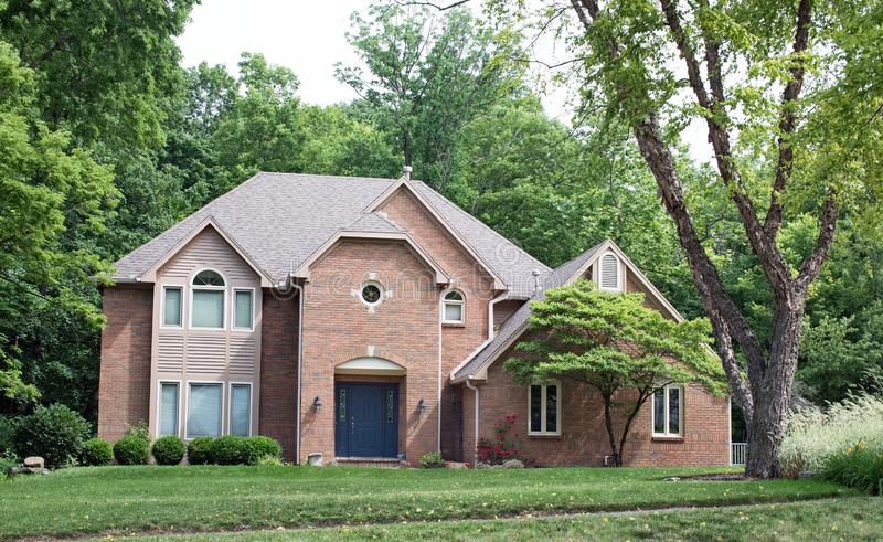 Beautiful Red Brick House stock photo