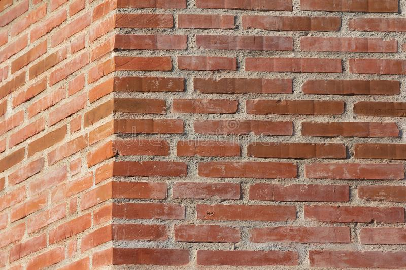 Beautiful red brick wall corner royalty free stock photography
