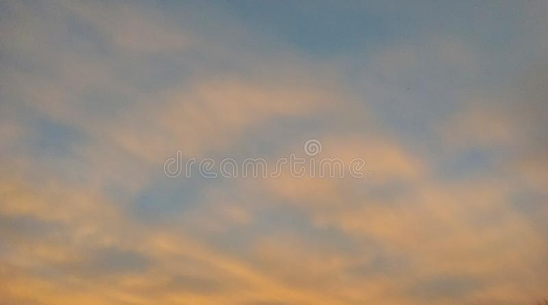 Beautiful red clouds during sunset royalty free stock photography
