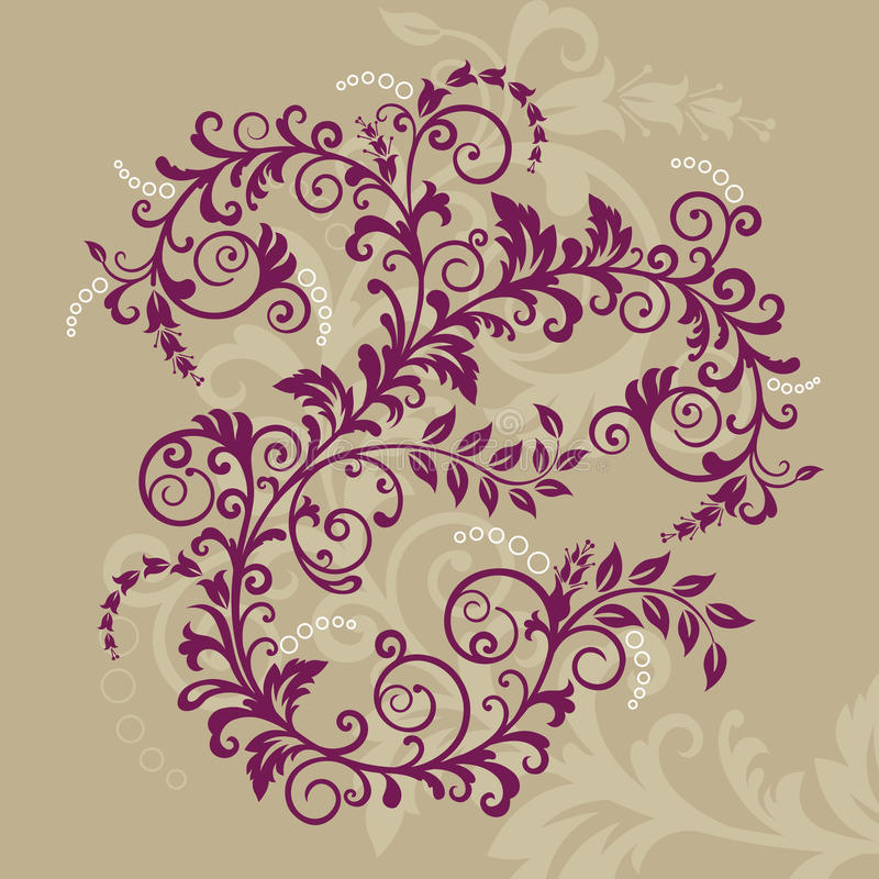 Beautiful Red Floral Ornament Royalty Free Stock Photography