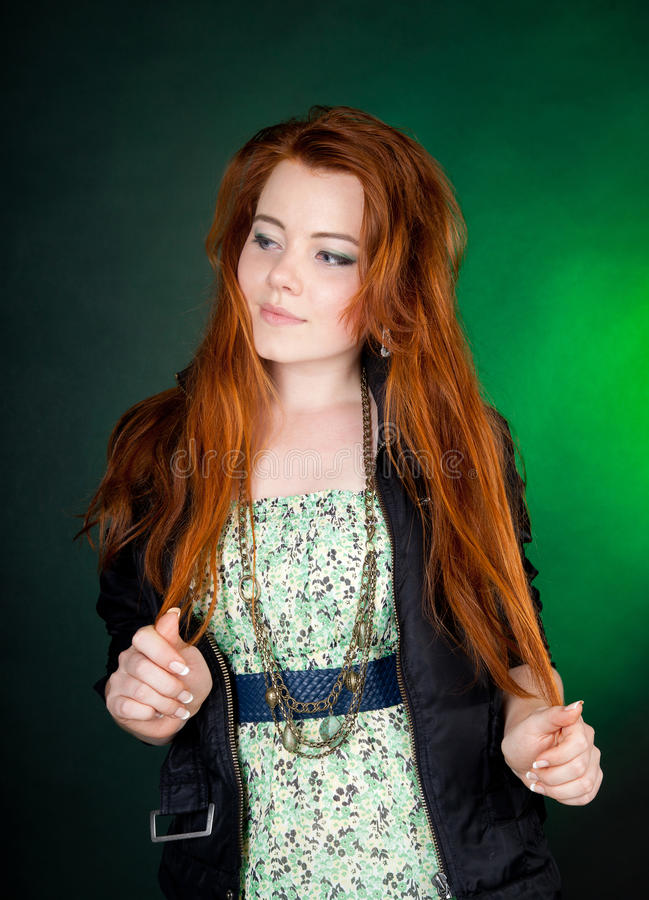 Beautiful Red Haired Woman Stock Photography