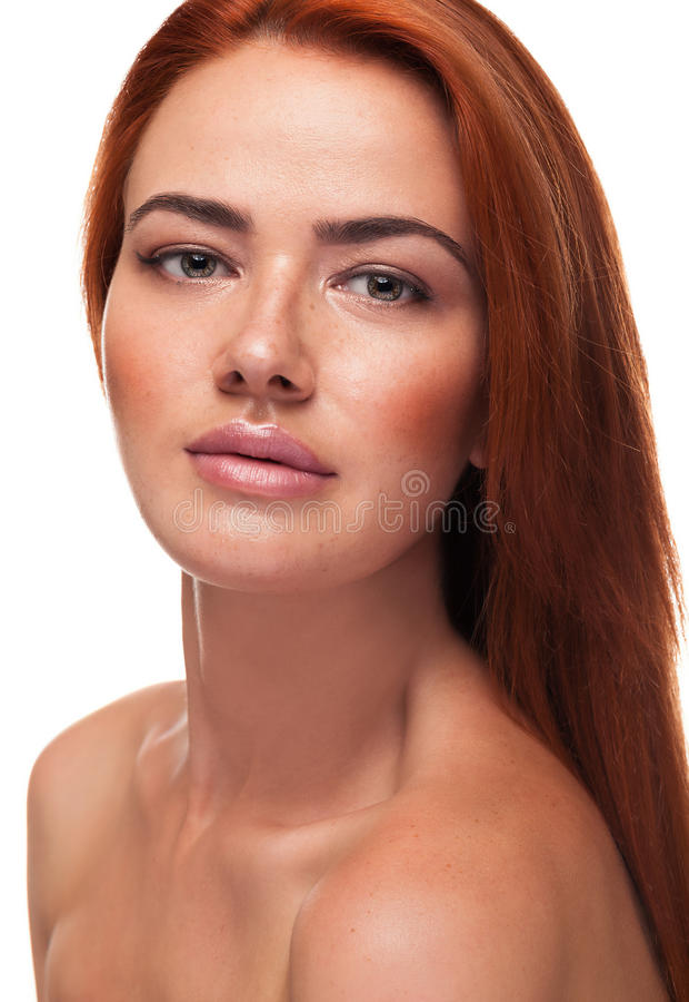 Redhead with big lips