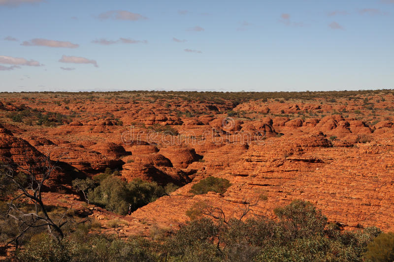 Kings Canyon Landscape. The beautiful red landscape of Kings Canyon in Central Australia royalty free stock photography