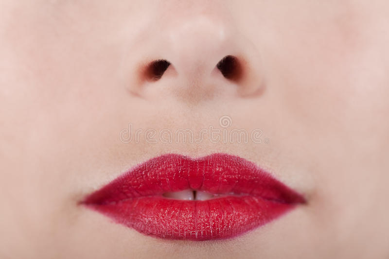 Download Beautiful red lips woman stock photo. Image of interiors - 23922900