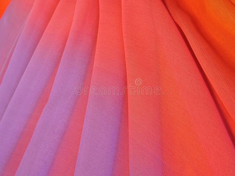 Colorful silk fabric texture stock photo