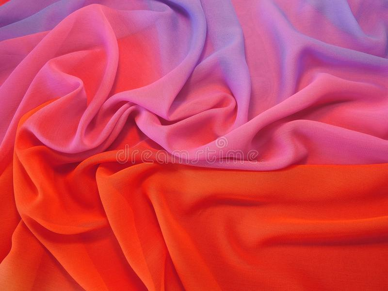 Colorful silk fabric texture royalty free stock photos